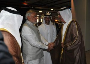 Modi visits Masdar City, UAE.