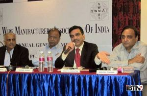 Mr. Vijay Vedmutha, Chairman SWMAI at the Press conference.