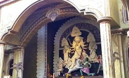 Video: 66 Pally Durga Puja near Kalighat, has a painted pandal