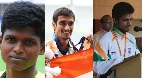 Para High-Jumpers (L-R) Mariyappan Thangavelu, Sharad Kumar  and Varun Singh Bhati, will look to make history on Day 2 of the Paralympic Games