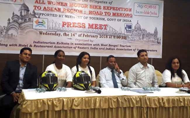 Mr.J.P-Shaw-Regional-Director-of-Indian-Tourism.-were-present--during-the--Press-Conference-of--Women-MotorCycle-Expedition-Road-to-Mekong